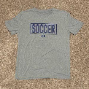Boys Under Armour Soccer Tee